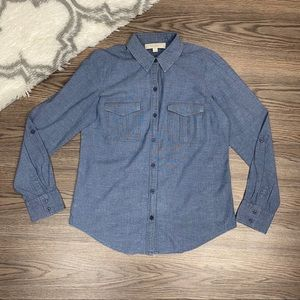 Loft Denim Button Down Size Medium